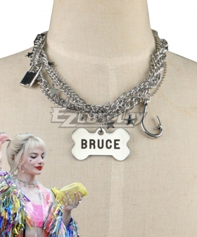 DC Birds of Prey Harley Quinn Necklace Cosplay Accessory Prop