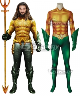 DC Comics 2018 Movie Aquaman Arthur Curry Zentai Jumpsuit Cosplay Costume