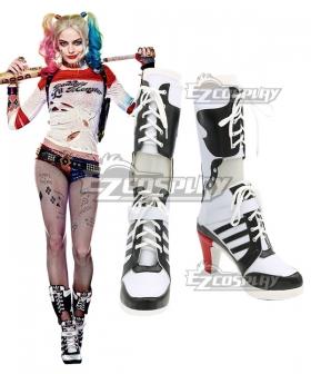 DC Comics New Batman Suicide Squad Harley Quinn Black Shoes Cosplay Boots