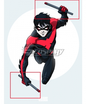 DC Comics Teen Titans Nightwing Richard John Grayson Stick Cosplay Weapon Prop