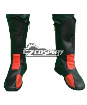 DC Comics The Flash Eobard Thawne Reverse Battleframe Black Red Shoes Cosplay Boots