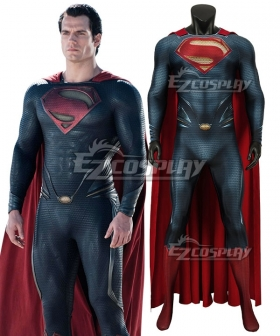 DC Superman Man of Steel Kal-El Clark Kent Zentai Jumpsuit Cosplay Costume