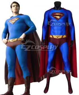 DC Superman Returns Superman Clark Kent Zentai Jumpsuit Cosplay Costume