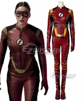 DC The Flash 3 Female Speedster Jesse Quick Cosplay Costume