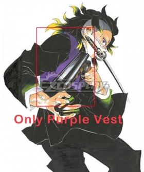 Demon Slayer: Kimetsu No Yaiba Genya Shinazugawa Cosplay Costume - Only Purple Vest