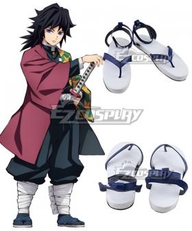 Demon Slayer: Kimetsu no Yaiba Giyuu Tomioka Blue Cosplay Shoes