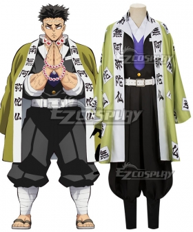 Demon Slayer: Kimetsu No Yaiba Gyomei Himejima Cosplay Costume