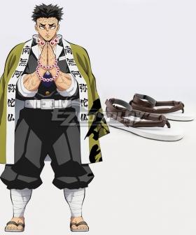 Demon Slayer: Kimetsu No Yaiba Himejima Kyoumei Grey Shoes Cosplay Boots