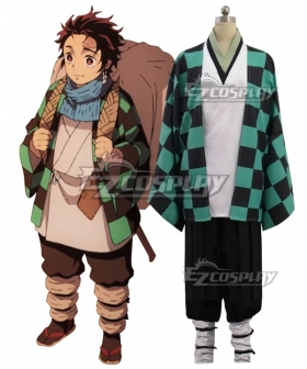 Demon Slayer: Kimetsu No Yaiba Kamado Tanjirou First Cosplay Costume