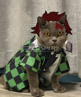 Demon Slayer: Kimetsu No Yaiba Kamado Tanjirou Pets Photo Prop Pet Cosplay Costume