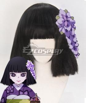 Demon Slayer: Kimetsu No Yaiba Kiriya Ubuyashiki Black Cosplay Wig