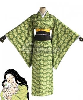 Demon Slayer: Kimetsu No Yaiba Agatsuma Zenitsu Golden Cosplay Costume