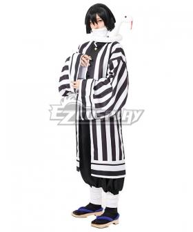 Demon Slayer: Kimetsu no Yaiba Obanai Iguro White Cosplay Costume