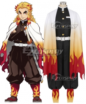 Demon Slayer: Kimetsu No Yaiba Rengoku Kyoujurou Cosplay Costume