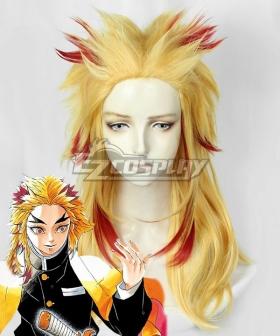 Demon Slayer: Kimetsu No Yaiba Rengoku Kyoujurou Golden Red Cosplay Wig