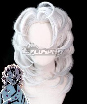 Demon Slayer: Kimetsu No Yaiba Rui Silver Cosplay Wig