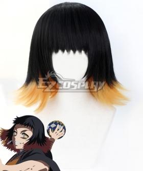 Demon Slayer: Kimetsu No Yaiba Susamaru Black Golden Cosplay Wig