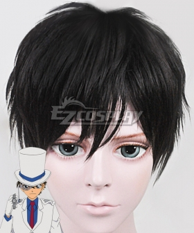 Detective Conan Kid the Phantom Thief Black Cosplay Wig