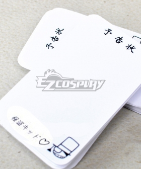 Detective Conan Kid the Phantom Thief Notice Letter Cosplay Accessory Prop