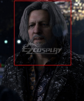 Detroit: Become Human Hank Silver Cosplay Wig