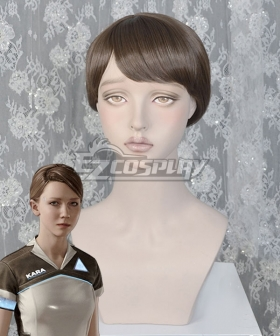 Detroit: Become Human Kara Light Brown Cosplay Wig