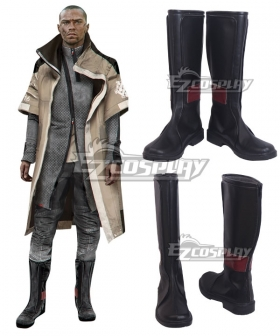 Detroit: Become Human Markus New Edition Gray Red Shoes Cosplay Boots