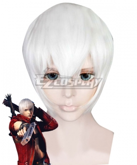 Devil May Cry 3 Dante Silver White Cosplay Wig