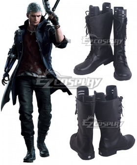 Devil May Cry 5 Nero Black Shoes Cosplay Boots