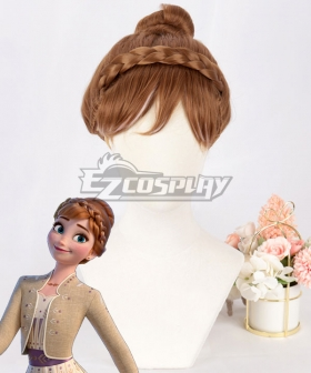 Disney Frozen 2 Anna Brown Cosplay Wig - B Edition