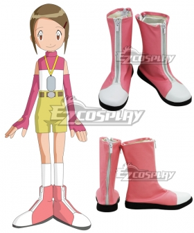 Digimon Adventure 2 Yagami Hikari Pink Cosplay Shoes