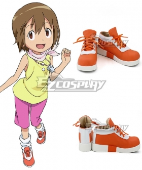 Digimon Adventure Dejimon Adobencha Yagami Hikari Orange Cosplay Shoes