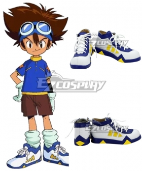 Digimon Adventure Digital Monster Tai Kamiya Taichi Yagami White Cosplay Shoes
