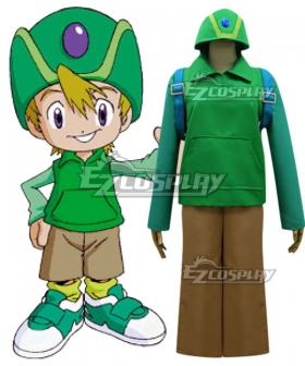 Digimon Adventure Digital Monster Takeru Takaishi Cosplay Costume