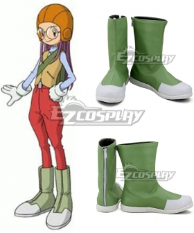 Digimon Adventure  Inoue Miyako Green Cosplay Shoes