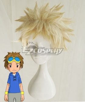 Digimon Tamers Takato Matsuki Golden Cosplay Wig