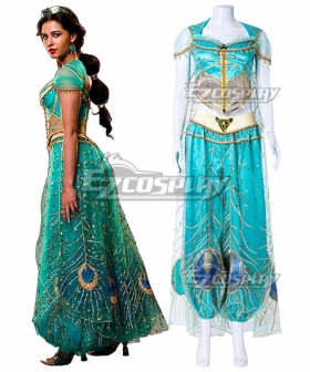 Disney 2019 ALADDIN Princess Jasmine Cosplay Costume