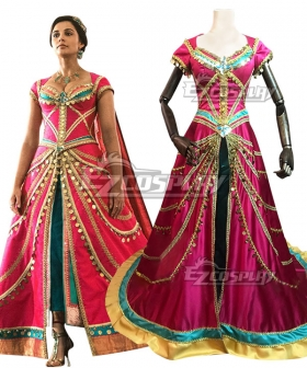 Disney 2019 Movie ALADDIN Princess Jasmine New Edition Cosplay Costume