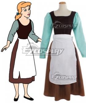 Disney Cinderella Maid Dress Cosplay Costume