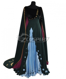 Disney Frozen 2 Anna Queen New Coronation Dress Cosplay Costume