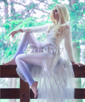 Disney Frozen 2 Elsa White Dress Cosplay Costume