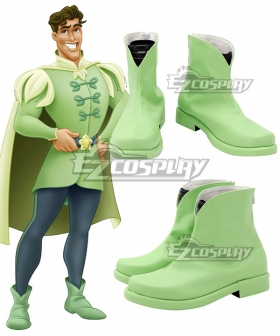 Disney Princess and the Frog Prince Naveen Green Cosplay Shoes