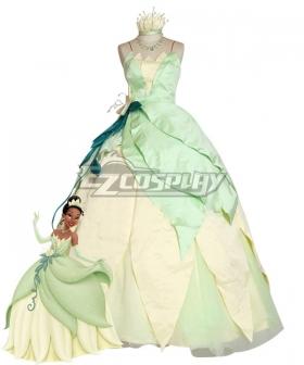 Disney Princess and the Frog Princess Tiana Halloween Cosplay Costume