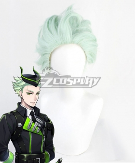 Disney Twisted Wonderland Diasomnia Sebek Zigvolt Green Cosplay Wig