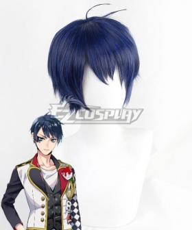 Disney Twisted Wonderland Heartslabyul Deuce Spade Blue Cosplay Wig