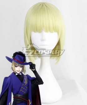 Disney Twisted Wonderland  Pomefiore Rook Hunt Golden Cosplay Wig