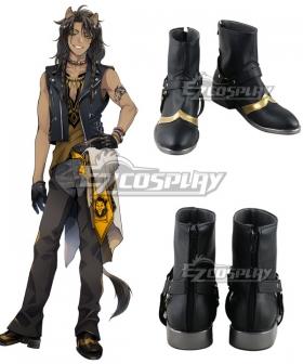 Disney Twisted Wonderland Savanaclaw Leona Kingscholar Black Shoes Cosplay Boots