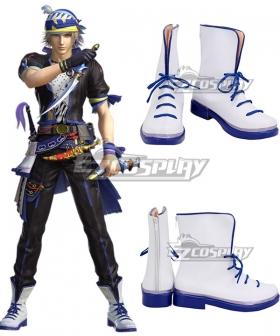 Dissidia Final Fantasy NT Locke Cole White Cosplay Shoes
