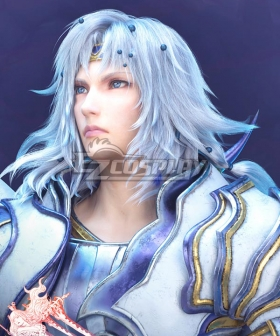 Dissidia Final Fantasy NT Paladin Cecil Silver Cosplay Wig
