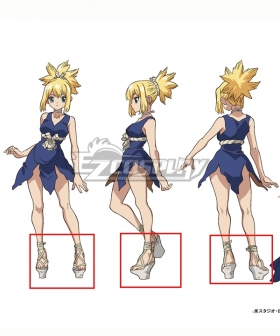 Dr.Stone Kohaku White Shoes Cosplay Boots