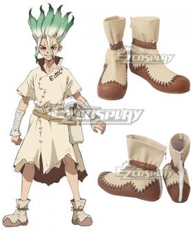 Dr.Stone Senku Ishigami Yuzuriha Ogawa Taiju Oki Brown Shoes Cosplay Boots
